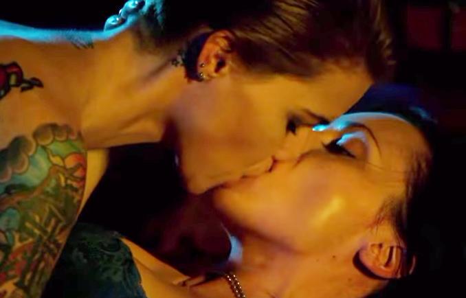 Christina ricci lesbian kiss