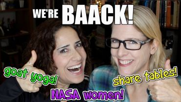 Lacie and Robin – NASA Women Legos, Share Tables, Goat Yoga